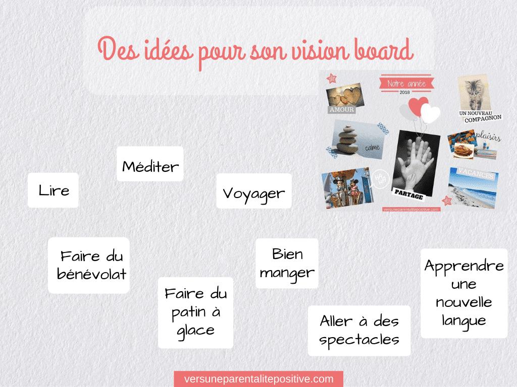 Des idées pour réaliser son vision board