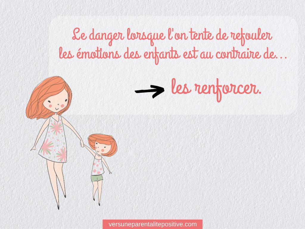Apprendre à son enfant à gérer ses émotions : Le danger lorsque l'on tente de refouler les émotions des enfants est au contraire de... les refouler.